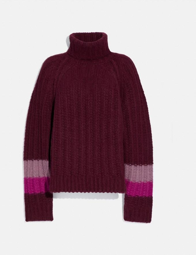 Coach Turtleneck Sweater Burgundy