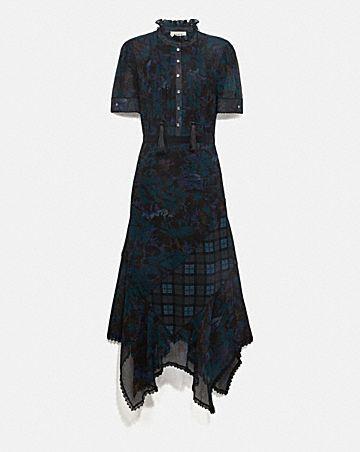 long dress with kaffe fassett print