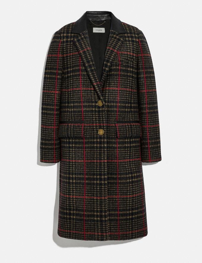 Coach Tailored Wool Coat Multi New Women's New Arrivals Ready-to-Wear