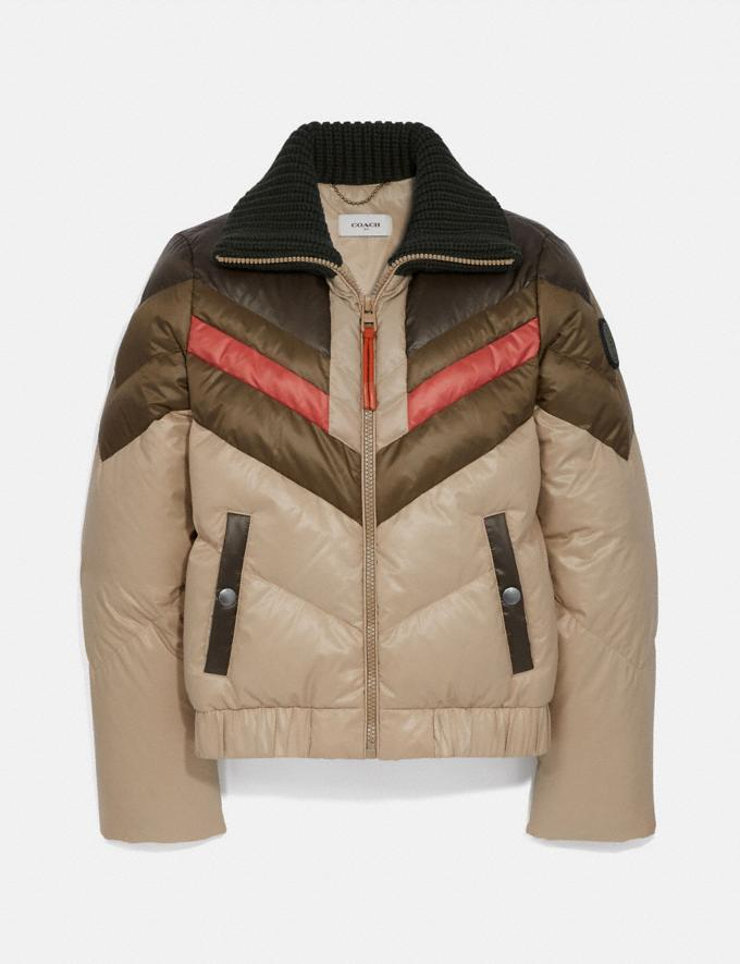 Coach Ski Jacket Military Green