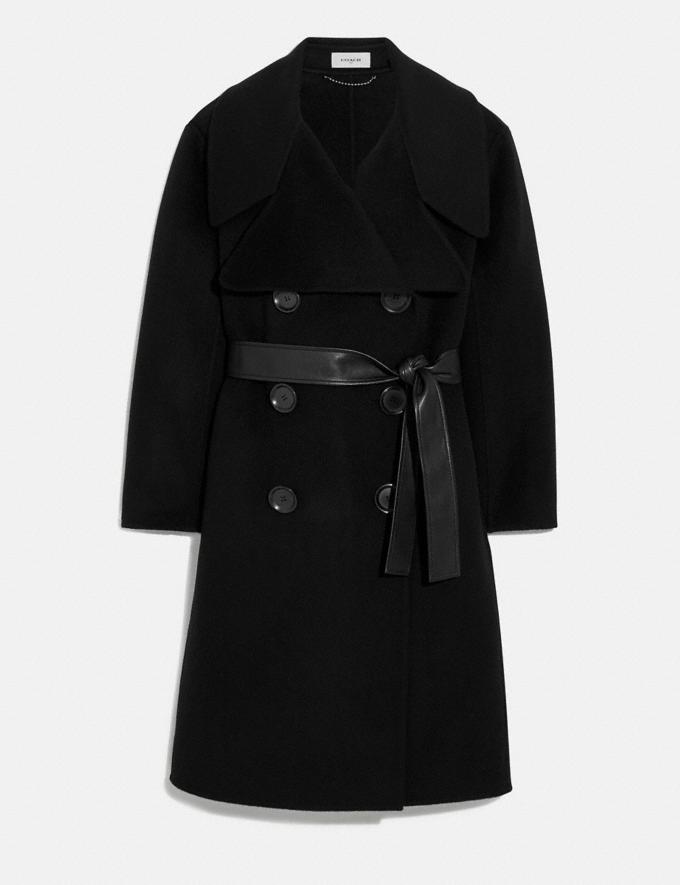 Coach Luxury Wool Coat Black New Women's New Arrivals Ready-to-Wear