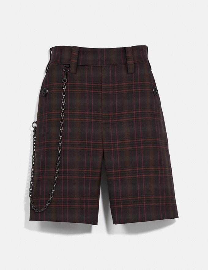 Coach Oversized Shorts Burgundy