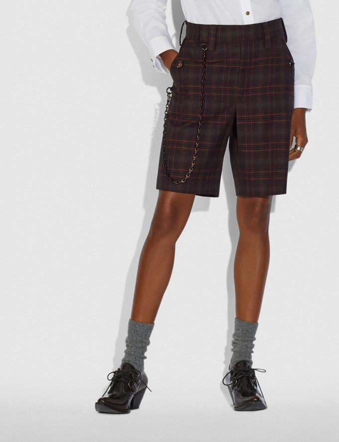 Coach Oversized Shorts Burgundy  Alternate View 1
