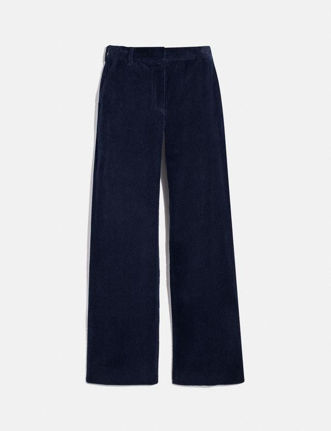 Coach Corduroy Trousers Dark Navy Women Ready-to-Wear Bottoms