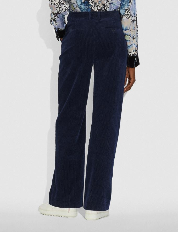 Coach Corduroy Trousers Dark Navy Women Ready-to-Wear Bottoms Alternate View 2