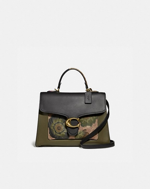 Coach TABBY TOP HANDLE IN SIGNATURE CANVAS WITH KAFFE FASSETT PRINT