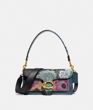 TABBY SHOULDER BAG 26 IN SIGNATURE CANVAS WITH KAFFE FASSETT PRINT