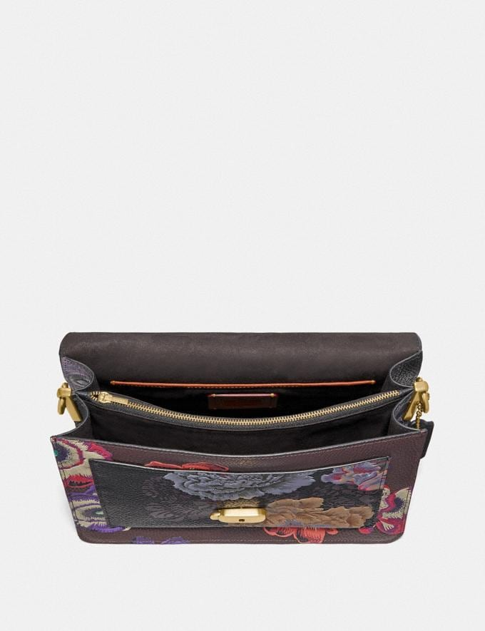 Coach Tabby Shoulder Bag With Kaffe Fassett Print Brass/Black Multi Women Handbags Crossbody Bags Alternate View 2