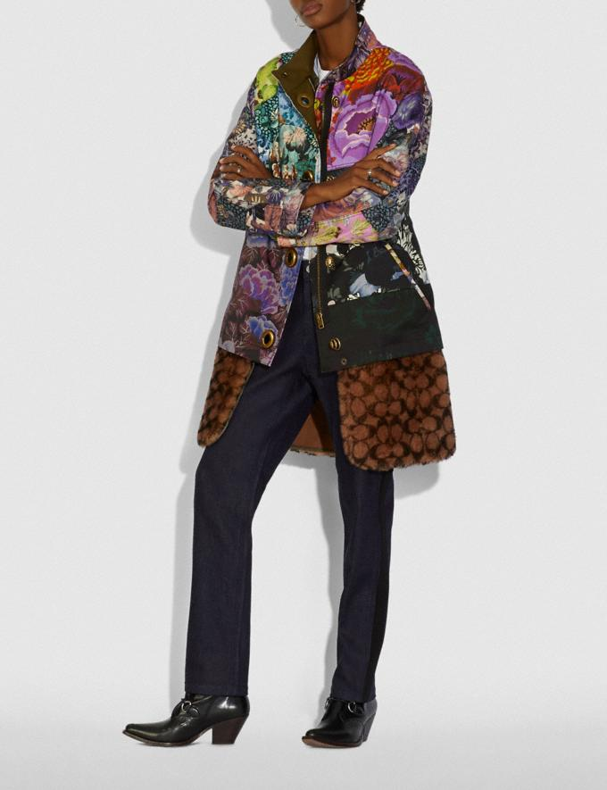 Coach Patchwork Parka With Kaffe Fassett Print and Removable Signature Shearling Liner Multi VIP SALE Women's Sale Ready-to-Wear Alternate View 1