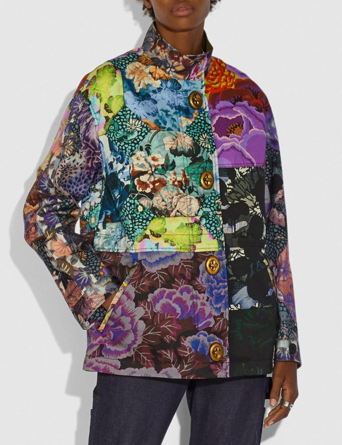 Coach Patchwork Parka With Kaffe Fassett Print and Removable Signature Shearling Liner Multi VIP SALE Women's Sale Ready-to-Wear Alternate View 3