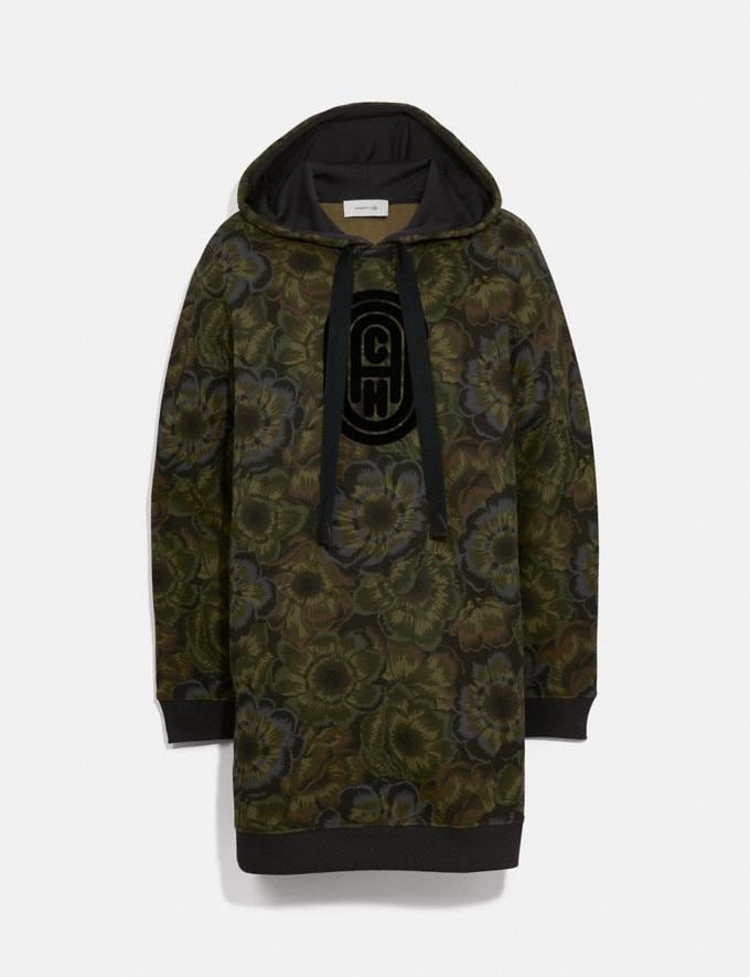 Coach Coach Sweatshirt Dress With Kaffe Fassett Print Military Green Women Ready-to-Wear Tops