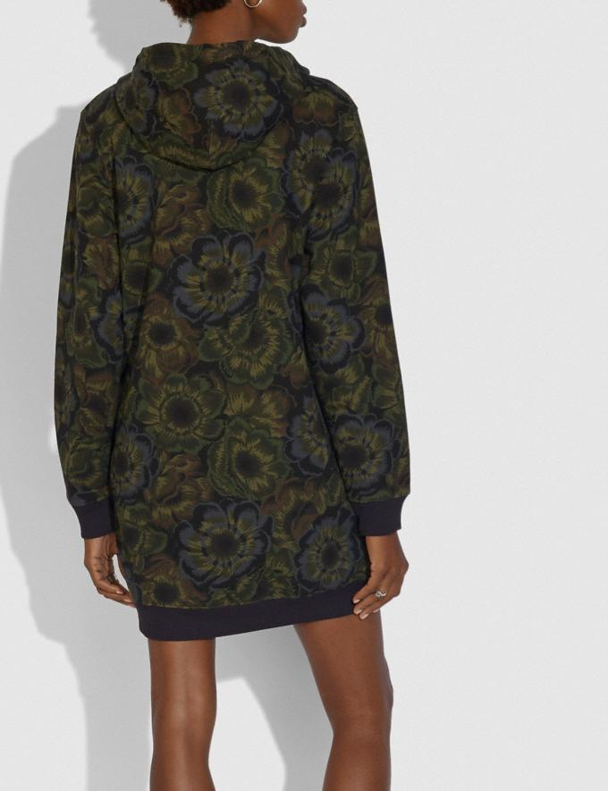 Coach Coach Sweatshirt Dress With Kaffe Fassett Print Military Green Women Ready-to-Wear Tops Alternate View 2