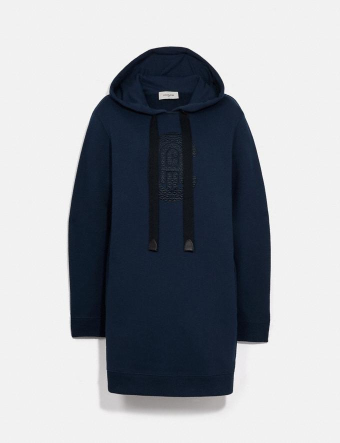 Coach Coach Sweatshirt Dress Navy Women Ready-to-Wear Dresses