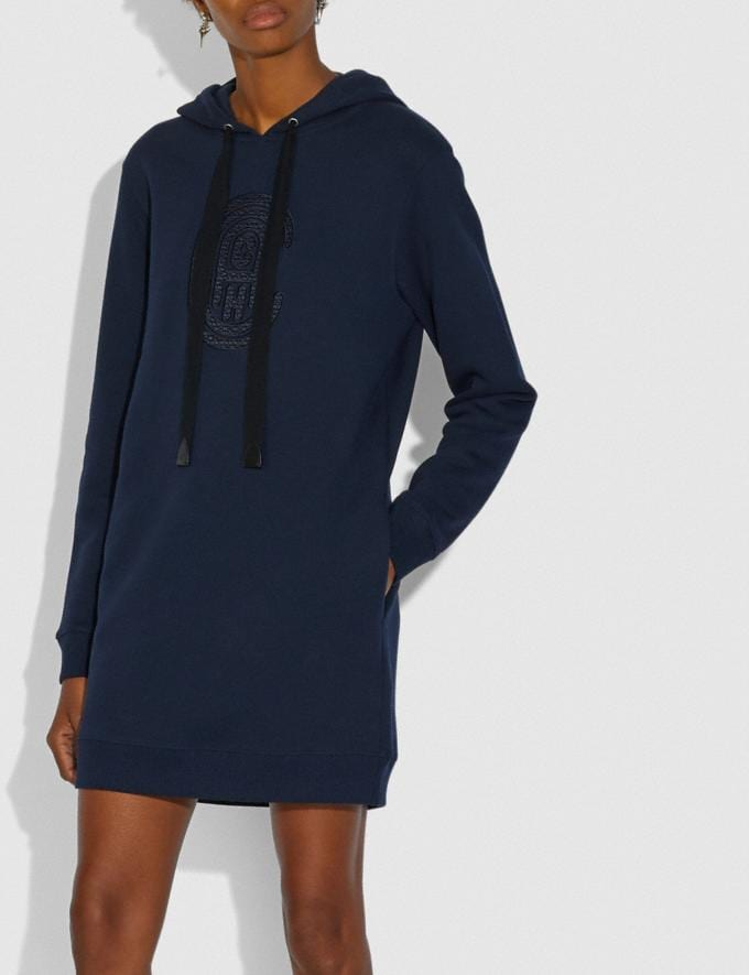 Coach Coach Sweatshirt Dress Navy Women Ready-to-Wear Dresses Alternate View 1