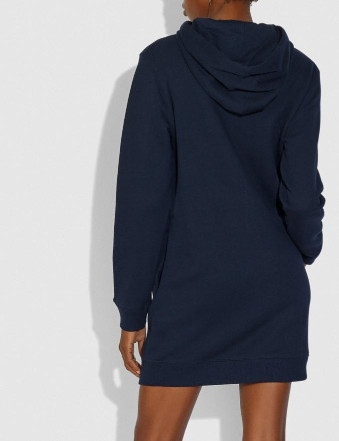 Coach Coach Sweatshirt Dress Navy Women Ready-to-Wear Dresses Alternate View 2