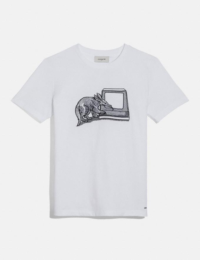 Coach Anteater T-Shirt White Women Ready-to-Wear Tops