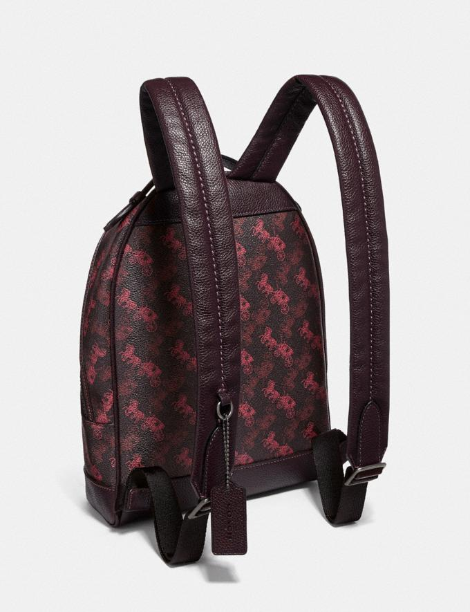 Coach Barrow Backpack With Horse and Carriage Print and Hearts V5/Black Oxblood New Women's New Arrivals Alternate View 1