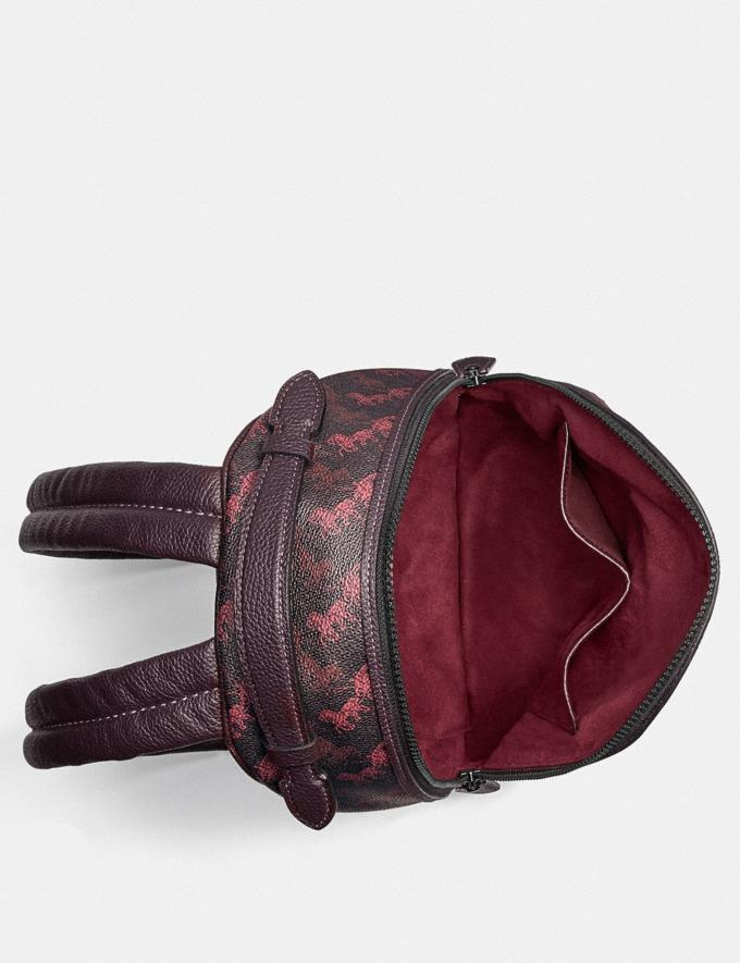 Coach Barrow Backpack With Horse and Carriage Print and Hearts V5/Black Oxblood New Women's New Arrivals Alternate View 2