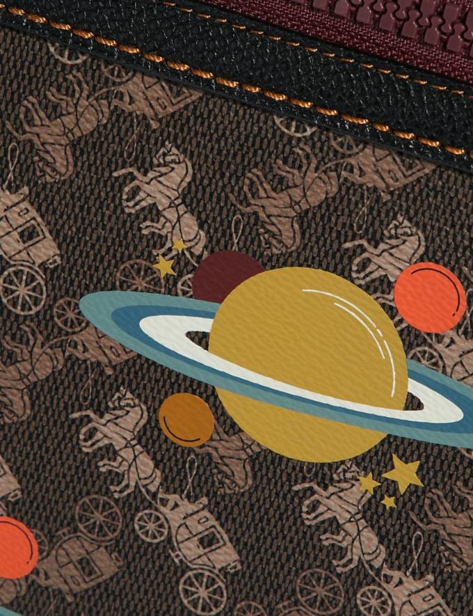 Coach Olive Crossbody With Horse and Carriage Print and Planets V5/Brown Black  Alternate View 3