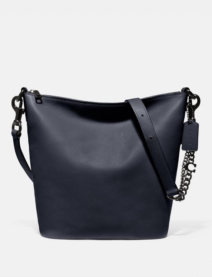 Coach Signature Chain Duffle Pewter/Midnight Navy Women Handbags Shoulder Bags & Hobos