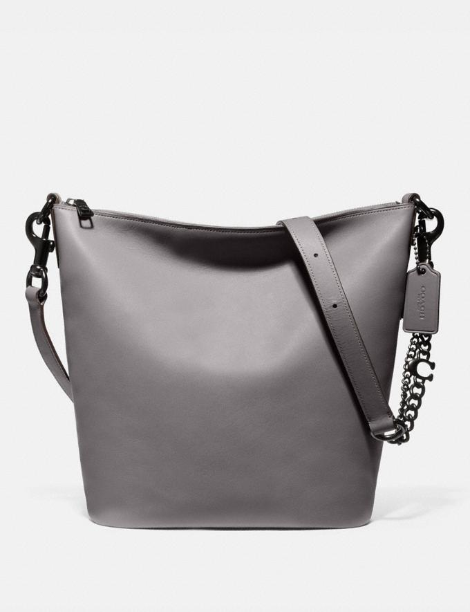 Coach Signature Chain Duffle Pewter/Heather Grey Women Collection Signature Chain