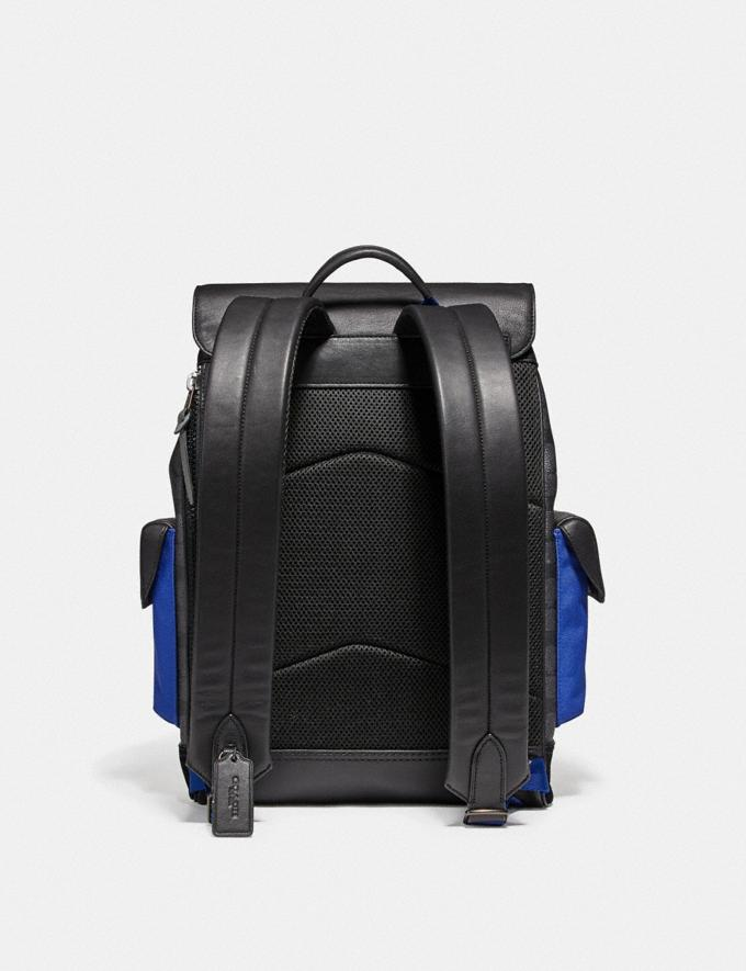 Coach Rivington Backpack in Signature Canvas With Coach Patch Black Copper/Black Cyber Monday For Him Cyber Monday Sale Alternate View 2