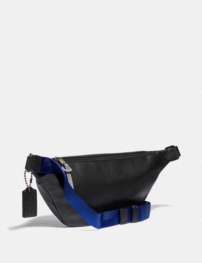 Coach Rivington Belt Bag in Signature Canvas With Coach Patch Black Copper/Black Men Bags Belt Bags Alternate View 1