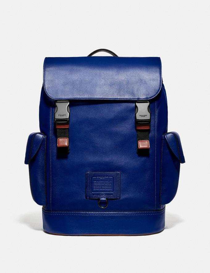 Coach Rivington Backpack With Coach Patch Black Copper/Sport Blue Multi SALE 30% off Select Styles 30% off
