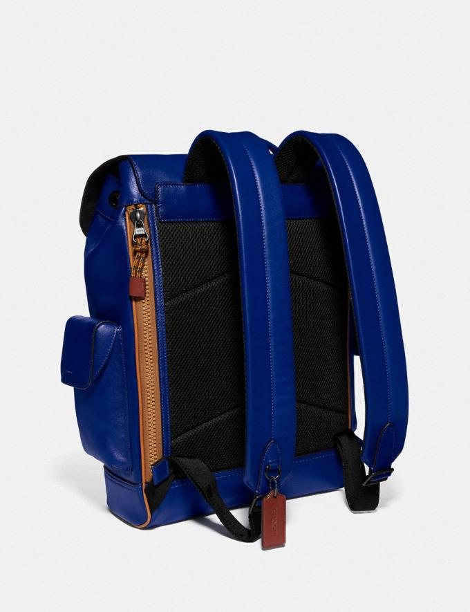 Coach Rivington Backpack With Coach Patch Black Copper/Sport Blue Multi Men Bags Backpacks Alternate View 1
