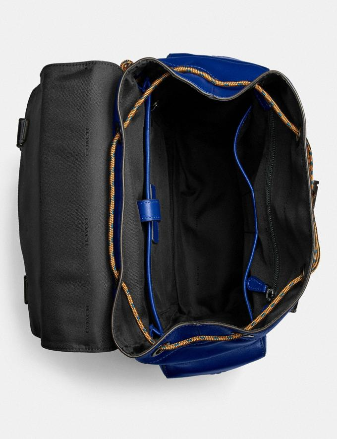 Coach Rivington Backpack With Coach Patch Black Copper/Sport Blue Multi Men Bags Backpacks Alternate View 3