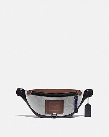 rivington belt bag 7 in reflective signature canvas
