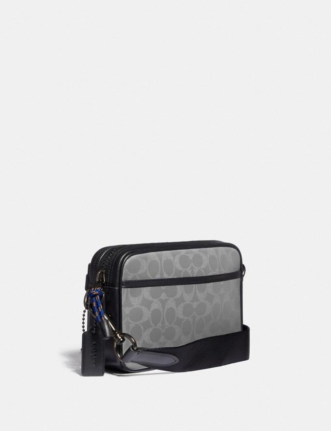 Coach Academy Crossbody in Reflective Signature Canvas Ji/Silver Gifts For Him Under £500 Alternate View 1