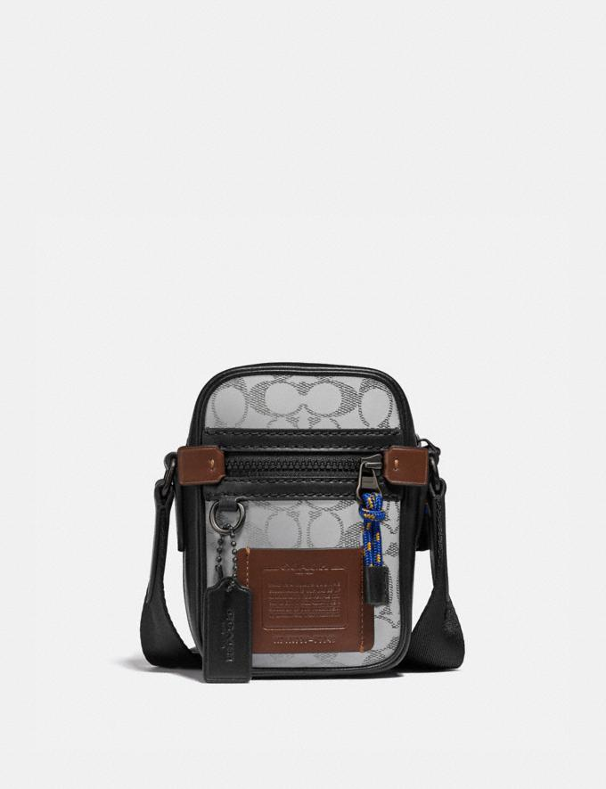 Coach Dylan 10 in Reflective Signature Canvas Black Copper/Silver Gifts For Him Under $500