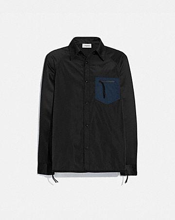 colorblock satin shirt