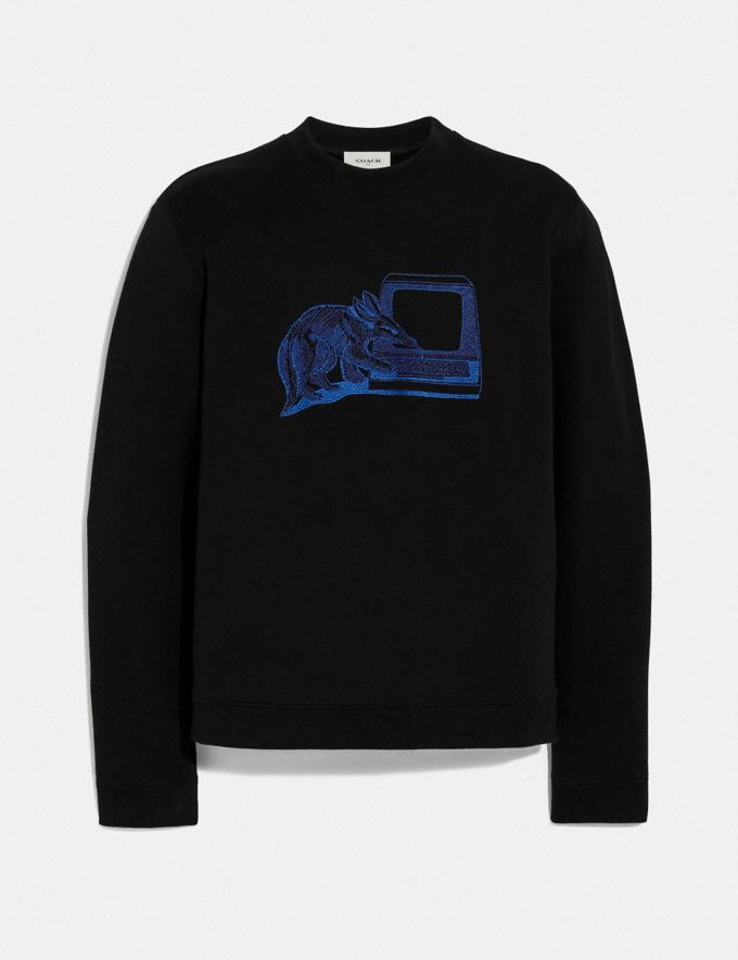 Coach Printed Sweatshirt Black