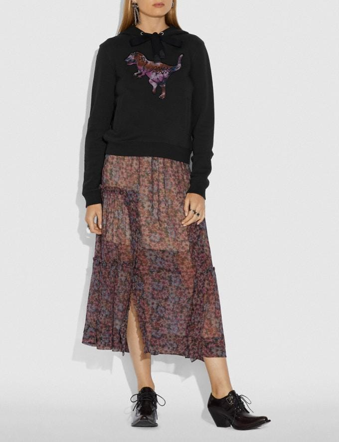 Coach Embroidered Rexy Sweatshirt With Kaffe Fassett Print Dark Shadow  Vistas alternativas 1