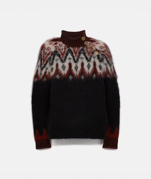 FAIR ISLE TURTLENECK SWEATER