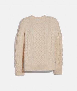 ARAN CREWNECK SWEATER