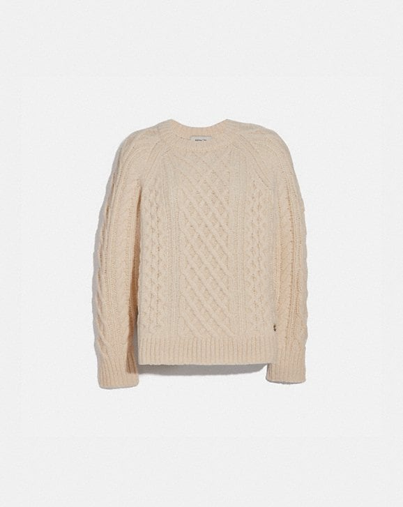 Coach ARAN CREWNECK SWEATER