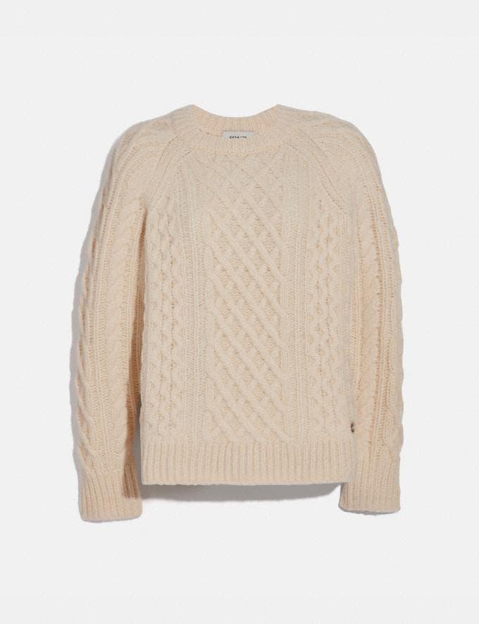 Coach Aran Crewneck Sweater Ivory