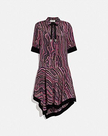 shirt dress with kaffe fassett print