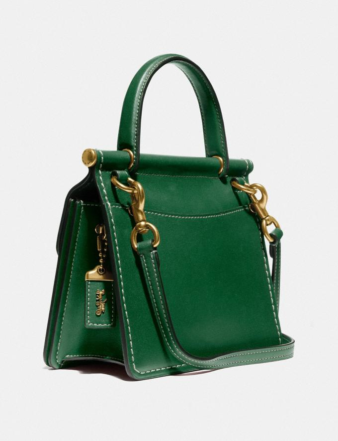 Coach Willis Top Handle 18 Brass/Hunter Green Women Alternate View 1
