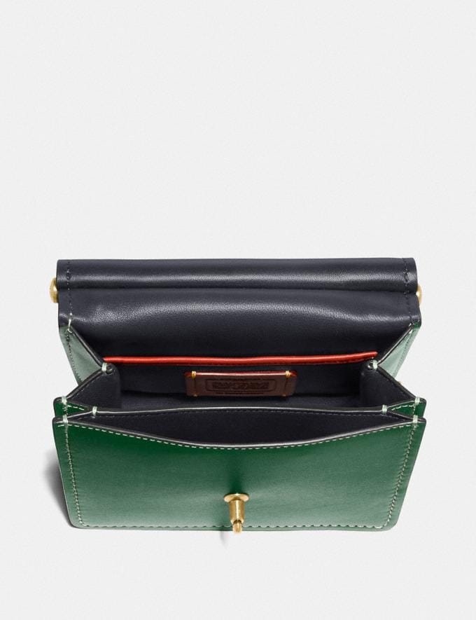 Coach Willis Top Handle 18 Brass/Hunter Green Women Alternate View 2