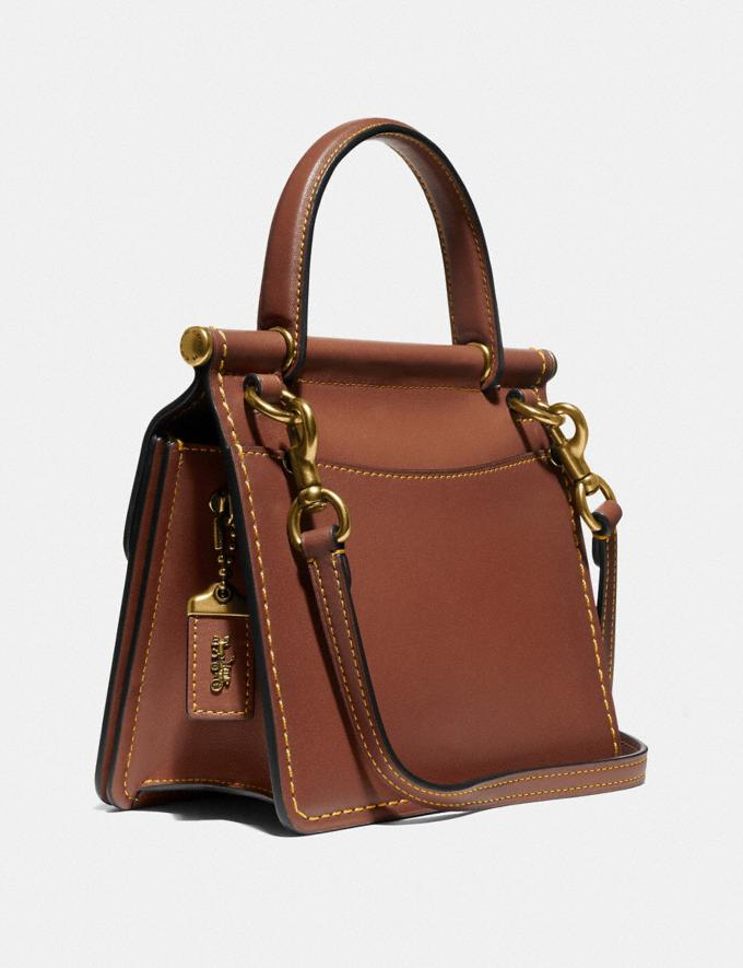 Coach Willis Top Handle 18 Brass/1941 Saddle Women Handbags Satchels & Top Handles Alternate View 1