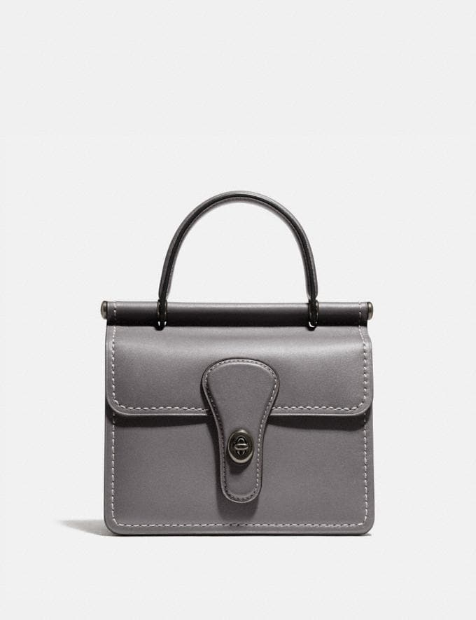 Coach Willis Top Handle 18 Pewter/Heather Grey New Featured Online Exclusives