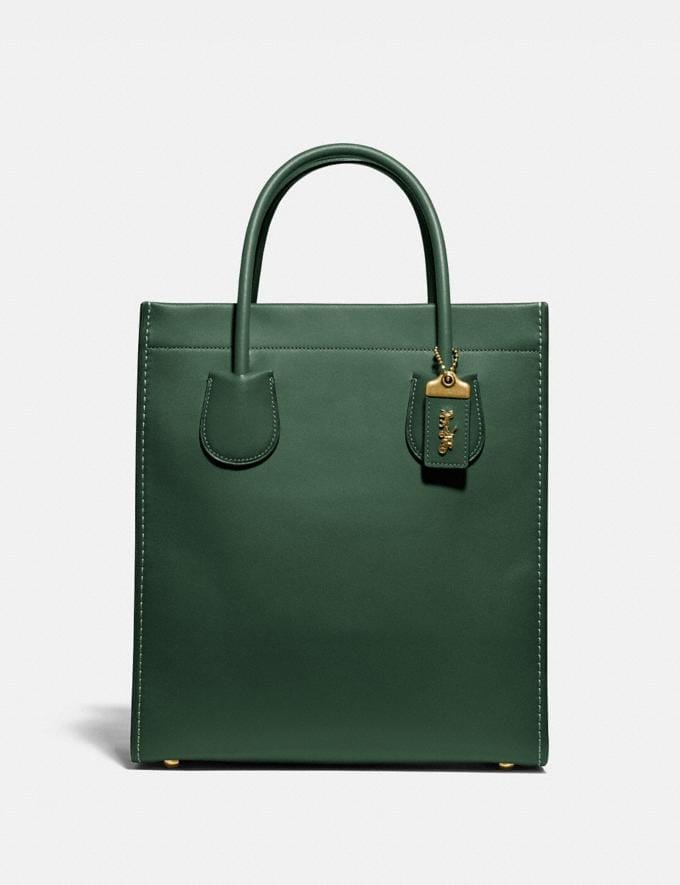 Coach Cashin Carry Tote Brass/Hunter Green Women Edits Work