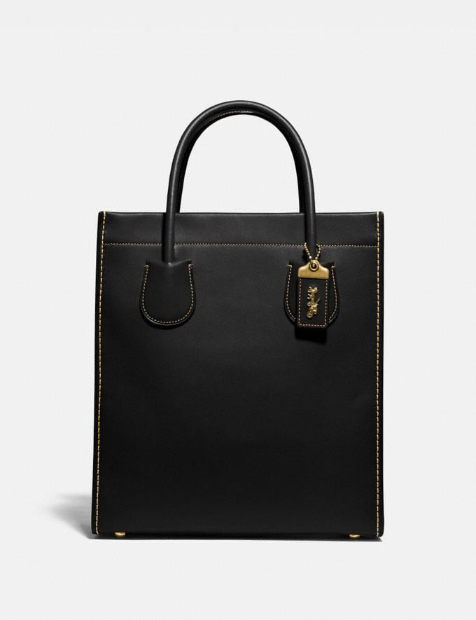 Coach Cashin Carry Tote Brass/Black Cyber Monday