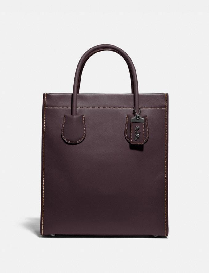 Coach Cashin Carry Tote Pewter/Oxblood SALE 30% off Select Full-Price Styles Women's