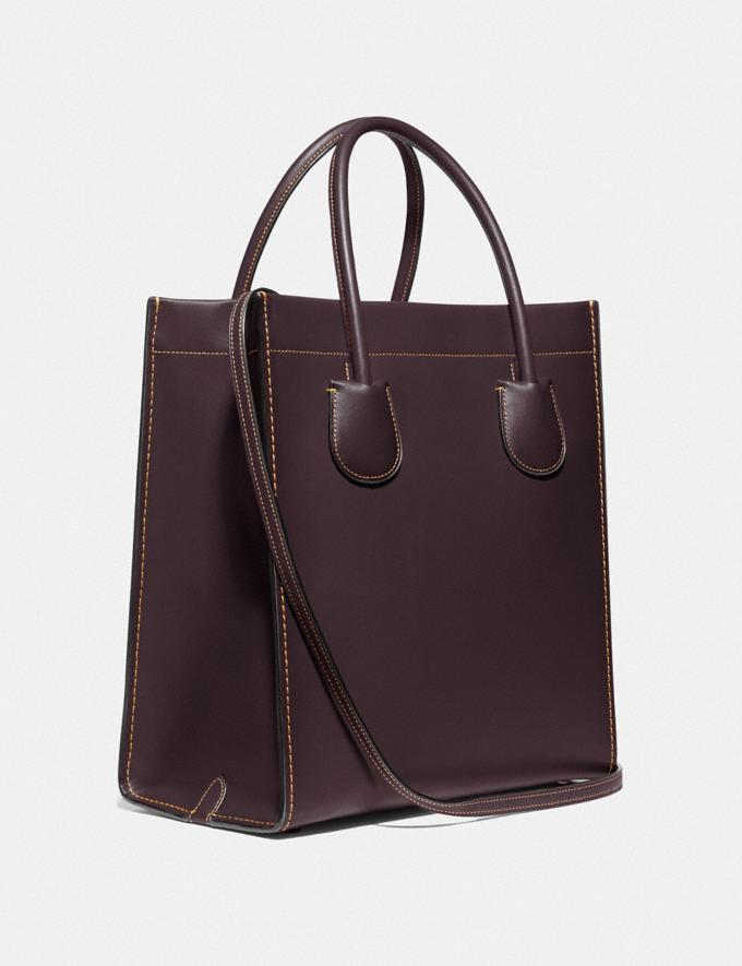 Coach Cashin Carry Tote Pewter/Oxblood SALE 30% off Select Full-Price Styles Women's Alternate View 1