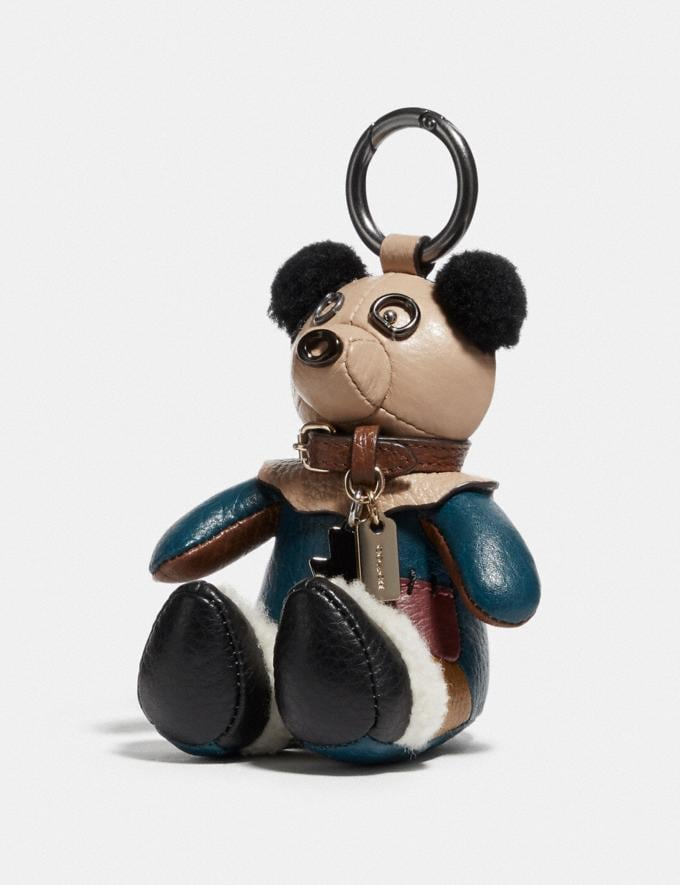 Coach Wizard of Oz Scarecrow Bear Bag Charm Dark Gunmetal/Multi New Men's New Arrivals Accessories